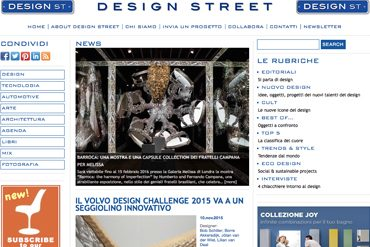 INTERVISTA DESIGNSTREET.IT – 06/12